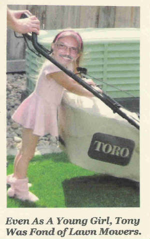 Dave's caricatures - Lawnmower Tony